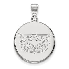 10kw White Gold Florida Atlantic Large Disc Pendant - Lannan Jewelry