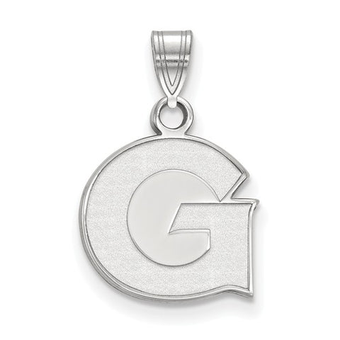10kw White Gold Georgetown University Small Pendant