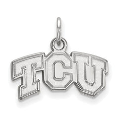 10kw White Gold Texas Christian University XS Pendant - Lannan Jewelry