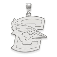 14kw White Gold Creighton University XL Pendant - Lannan Jewelry