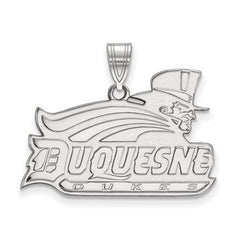 10kw White Gold Duquesne University Large Pendant - Lannan Jewelry