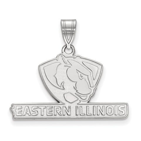 10kw White Gold Eastern Illinois University Medium Pendant