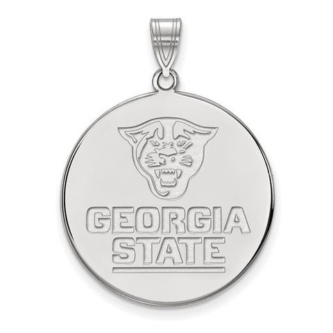 10kw White Gold Georgia State University XL Disc Pendant
