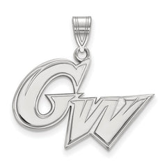 10kw White Gold The George Washington University Large Pendant - Lannan Jewelry