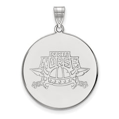 10kw White Gold Northern Kentucky University XL Disc Pendant - Lannan Jewelry