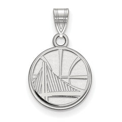 10kw White Gold Golden State Warriors Small Pendant - Lannan Jewelry