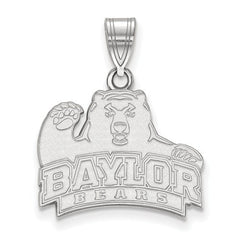 10kw White Gold Baylor University Medium Pendant - Lannan Jewelry