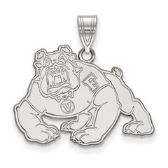 10kw White Gold California State University, Fresno Large Pendant - Lannan Jewelry