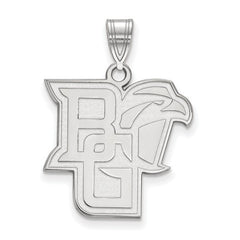 10kw White Gold Bowling Green State University Large Pendant - Lannan Jewelry