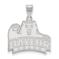 10kw White Gold Baylor University Large Pendant - Lannan Jewelry
