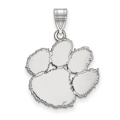 10kw White Gold Clemson University  Large Pendant - Lannan Jewelry