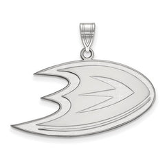 10kw White Gold Anaheim Ducks Large Pendant - Lannan Jewelry