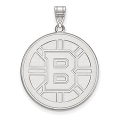 10kw White Gold Boston Bruins XL Pendant - Lannan Jewelry
