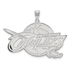 10kw White Gold Cleveland Cavaliers XL Pendant - Lannan Jewelry