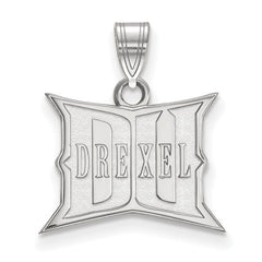 10kw White Gold Drexel University Small Pendant - Lannan Jewelry