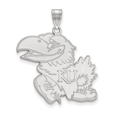 10kw White Gold University of Kansas XL Pendant - Lannan Jewelry
