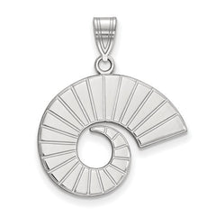 10kw White Gold Colorado State University Large Pendant - Lannan Jewelry