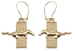 FAN GEAR FORD MUSTANG BAR LOGO EARRINGS STERLING SILVER - Lannan Jewelry