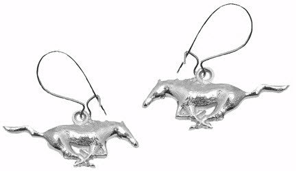 MODELED MUSTANG EARRINGS - Lannan Jewelry