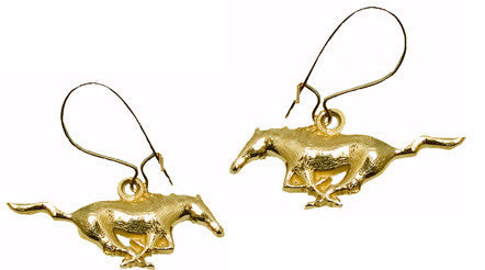 MODELED MUSTANG 14K YELLOW GOLD EARRING DANGLES - Lannan Jewelry