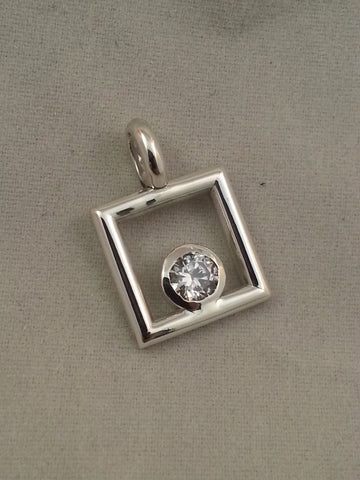 April Keepsake  Sterling silver pendant - Lannan Jewelry - 2