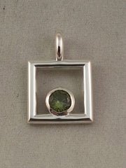 August Keepsake  Sterling silver pendant - Lannan Jewelry