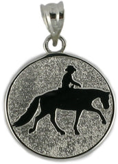 WESTERN RIDER IN DISC - Lannan Jewelry