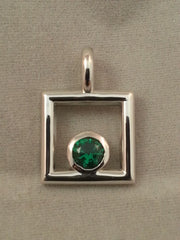 May Keepsake  Sterling silver pendant - Lannan Jewelry