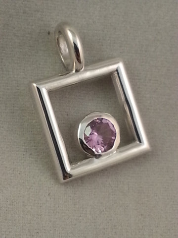 October Keepsake  Sterling silver pendant - Lannan Jewelry - 2