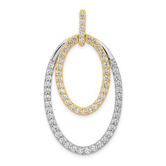 14ktt Lab Grown Diamond SI1/SI2, G H I, Oval Pendant - Lannan Jewelry