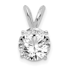 14kw 1.00ct. Round Lab Grown Diamond SI1/SI2, G H I, Solitaire Pendant - Lannan Jewelry