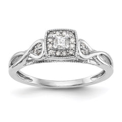 14K White Gold Complete Diamond Promise/Engagement Ring - Lannan Jewelry