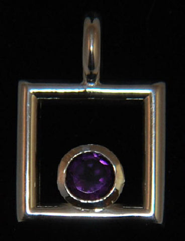 Deep Purple Amethyst in Sterling Silver pendant hand crafted by Nick Lannan - Lannan Jewelry - 1
