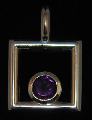 Deep Purple Amethyst in Sterling Silver pendant hand crafted by Nick Lannan - Lannan Jewelry