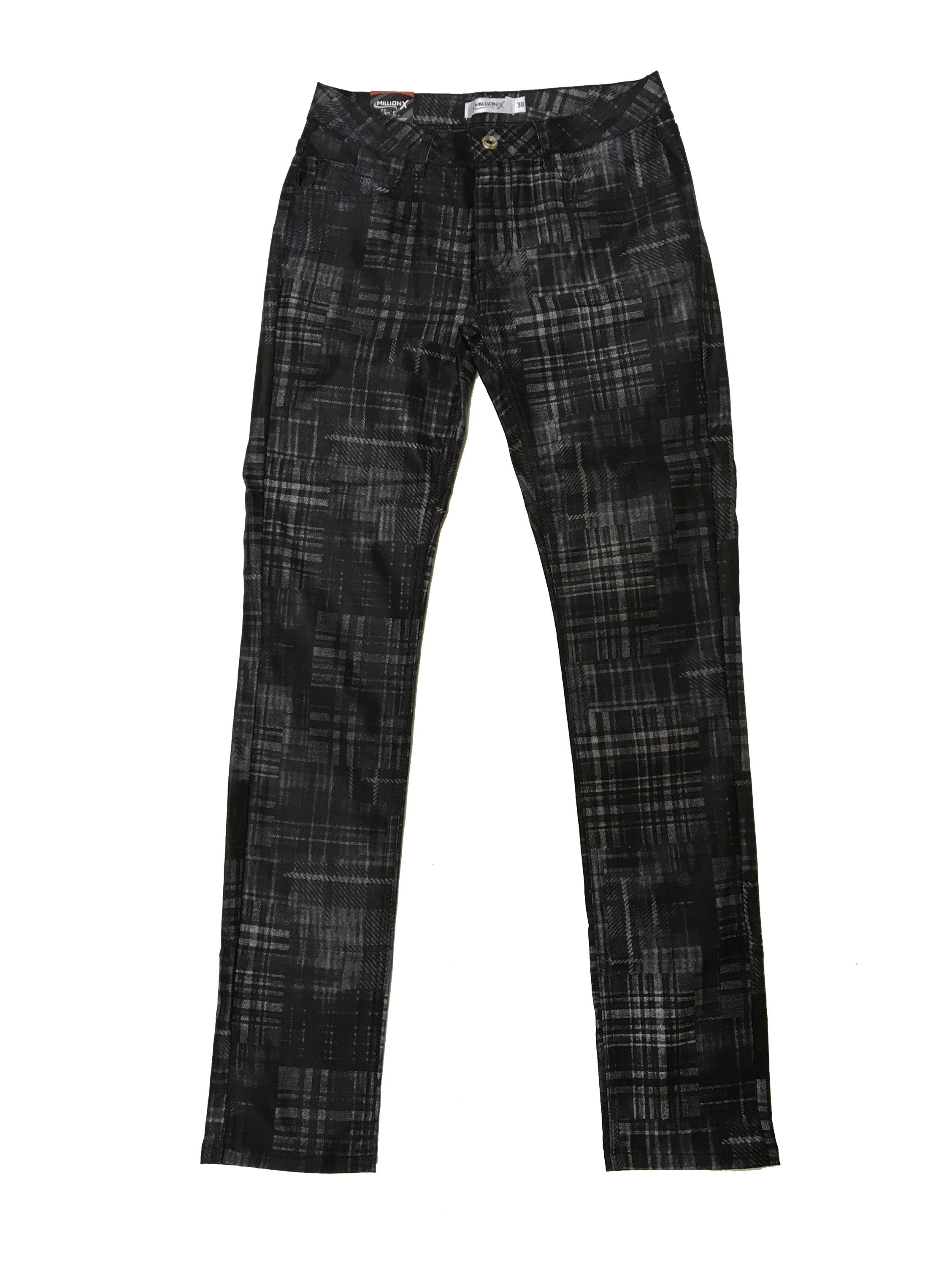 Damen Hose Victoria open check
