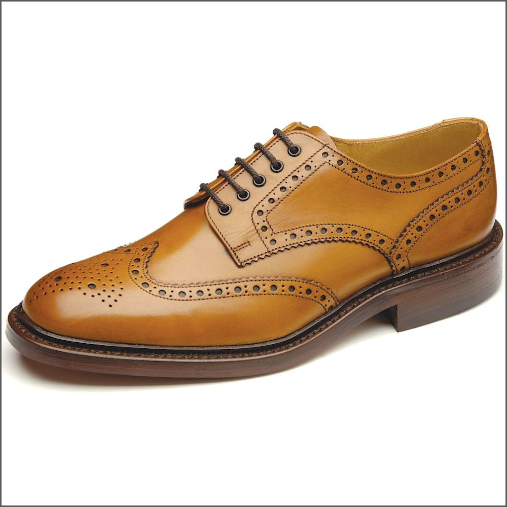 Loake Chester Tan Leather Sole Brogue