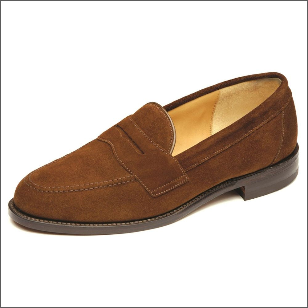 Loake Eton Brown Suede Classic Penny