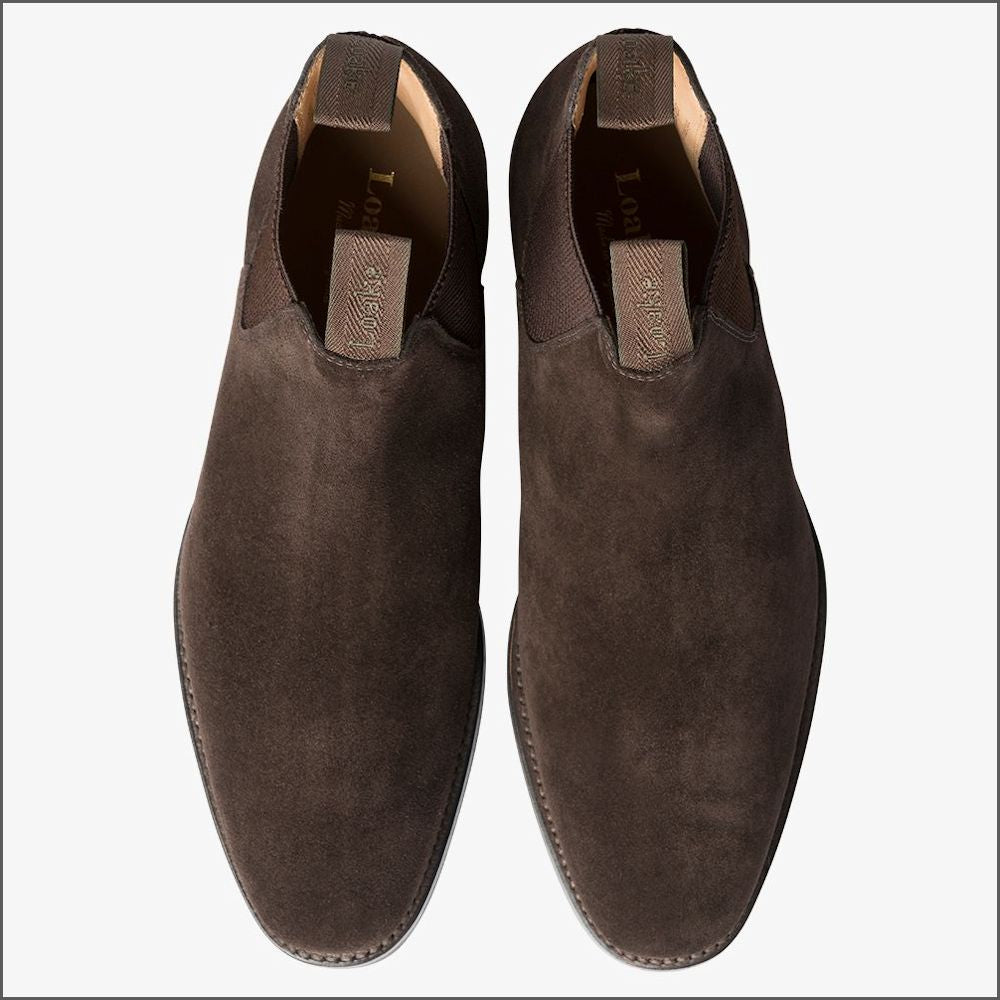 Loake Chatsworth Brown Suede Leather