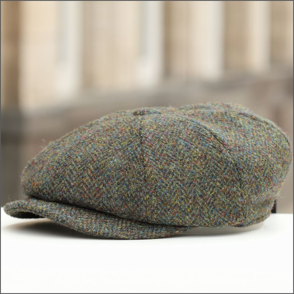 Harris Tweed Carloway 8 Piece Brown Marl Cap.  7776a93ae62