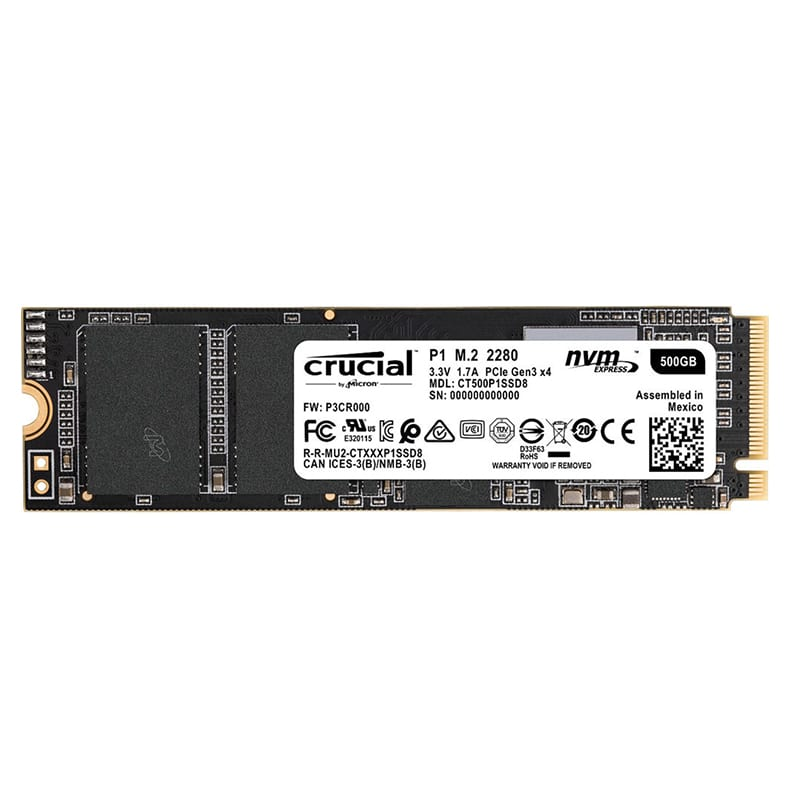 Crucial P1 500GB 3D PCIE NVME M.2 SSD