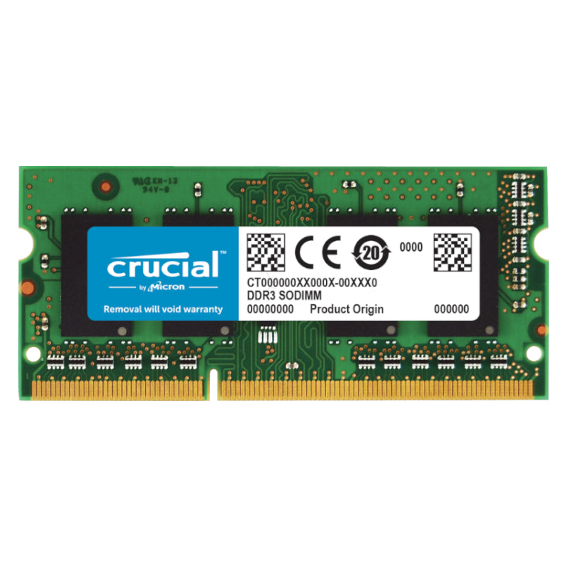 Crucial 4GB DDR3L RAM 1600MHz SO-DIMM Single Rank