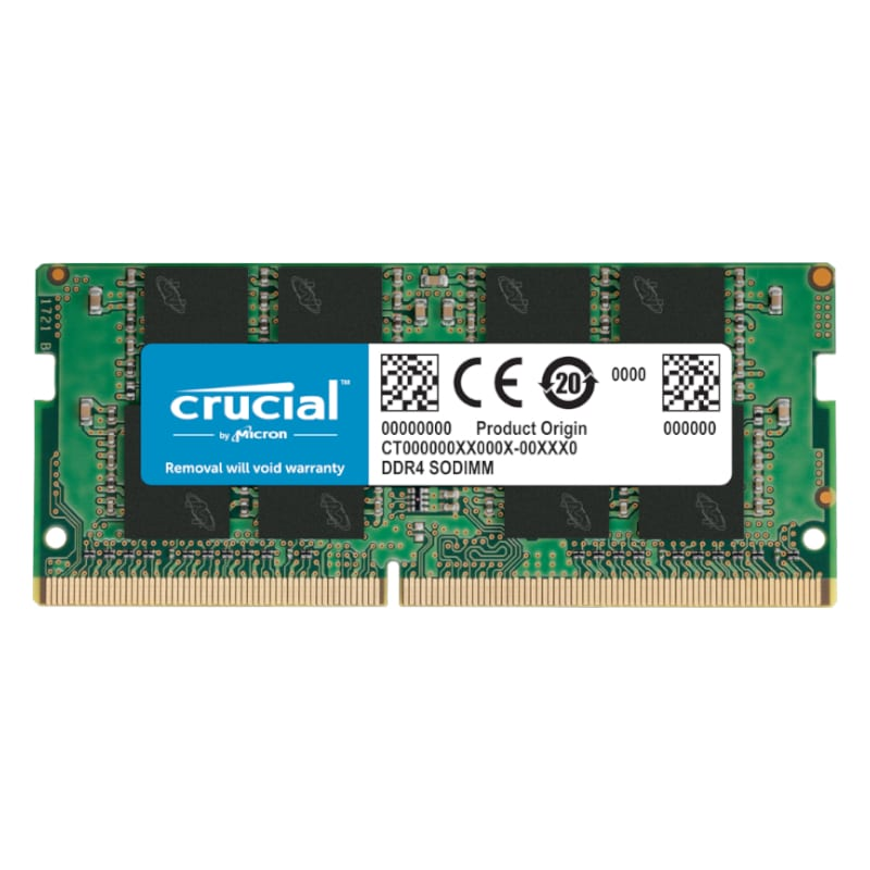 Crucial 8GB DDR4 RAM 3200MHz SO-DIMM Single Rank