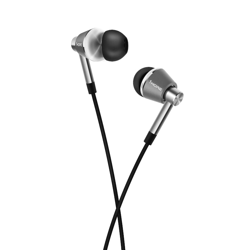 1MORE HiFi E1001 Triple Driver Hi-Res Certified 3.5mm In-Ear Headphones - Silver