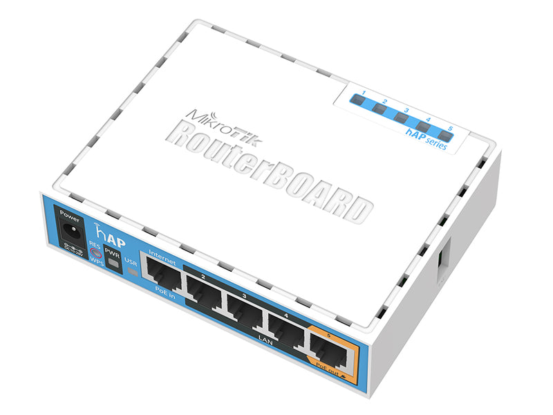 MikroTik RB951Ui-2nD | hAP WiFi Router 2.4GHz