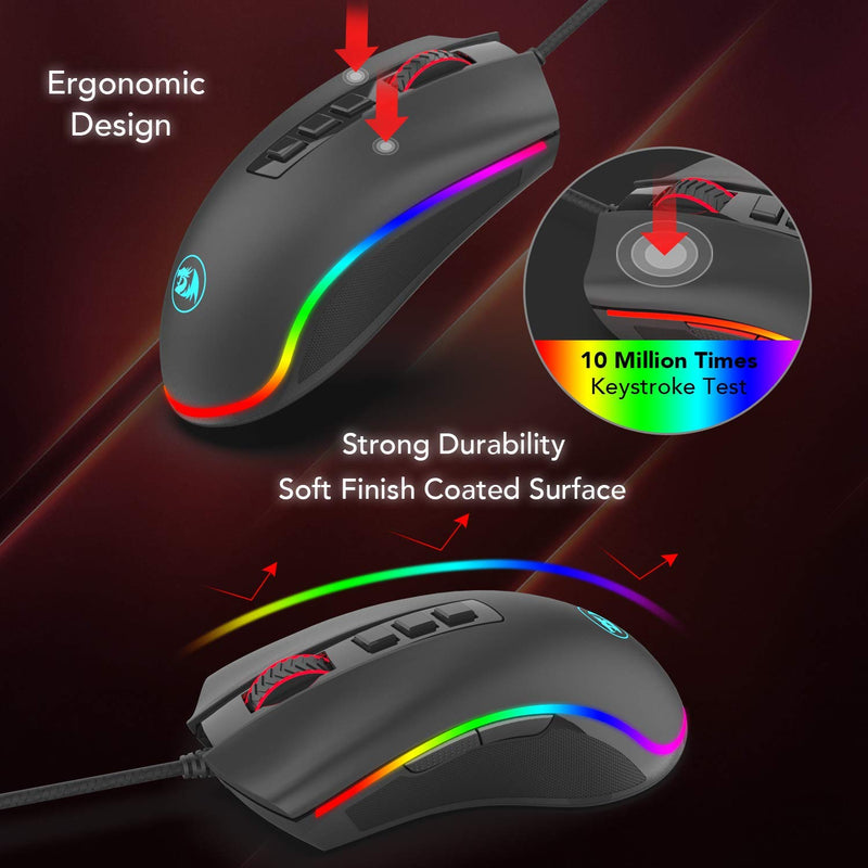 Redragon COBRA 5000DPI Gaming Mouse - Black
