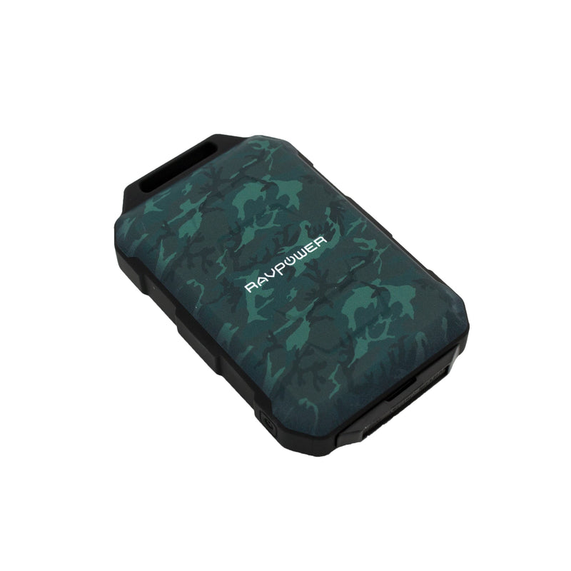 RAVPOWER 10050mAh 2x USB|IP66|Waterproof Power Bank Camouflage