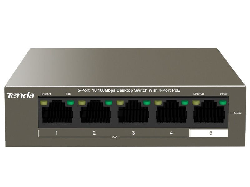 Tenda TEF1105P | Data Desktop PoE Switch 5 Port