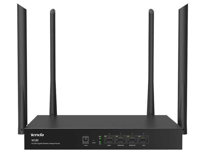 Tenda W18E | Multi WAN WiFi Router 1200Mbps Dual Band AC