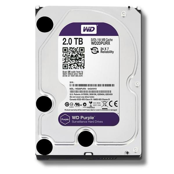 Western Digital Purple 2TB HDD | 3.5 SATA 64MB
