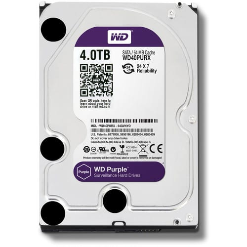 Western Digital Purple 4TB HDD | 3.5 SATA 64MB
